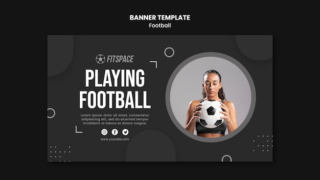 Banner football ad template Free Psd