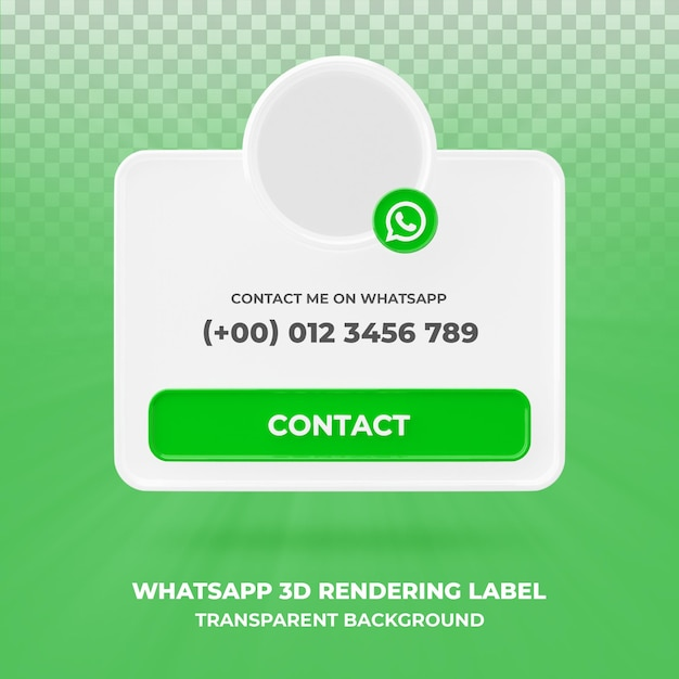 Banner icon profile on whatsapp 3d rendering banner isolated