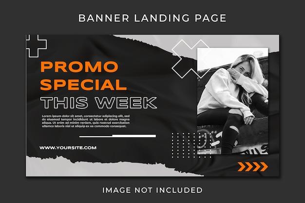 Banner landing page fashion promo template Premium Psd