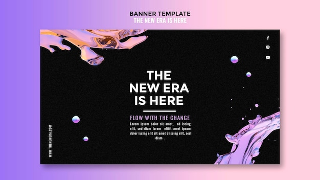 Banner liquid design template Free Psd