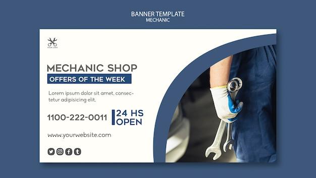 Banner mechanic shop template Free Psd