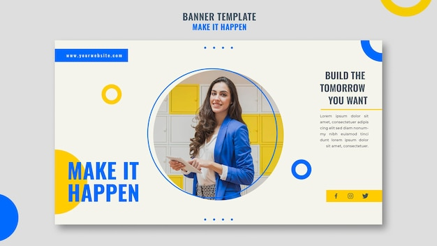Banner memphis business ad template Free Psd
