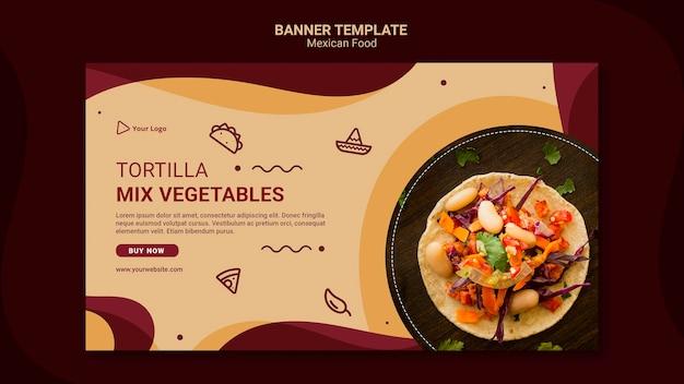バナーメキシコレストランテンプレート 無料 Psd
