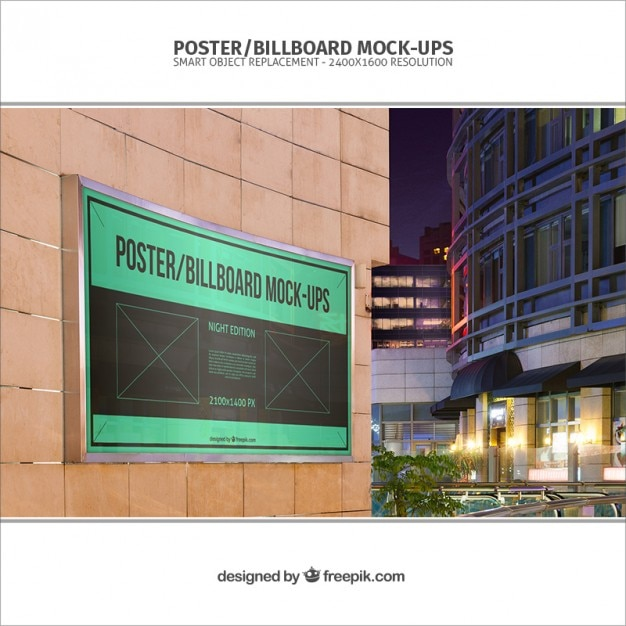 Banner Mockup Template Free Psd File