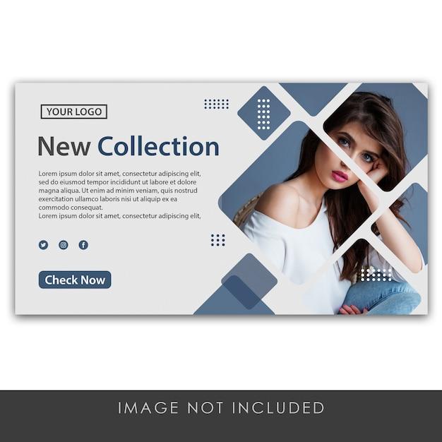 バナー新しいコレクションクリーンでモダンなテンプレート Premium Psd