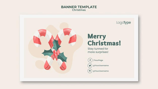 Баннер интернет-рождественских покупок шаблон Бесплатные Psd
