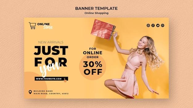 Banner per la vendita di moda online Psd Gratuite