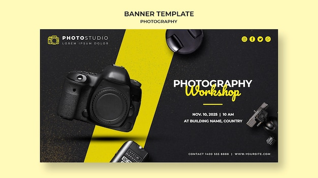 배너 사진 워크샵 템플릿 무료 PSD 파일
