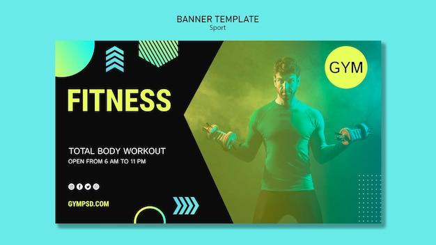 Banner sport business template Free Psd