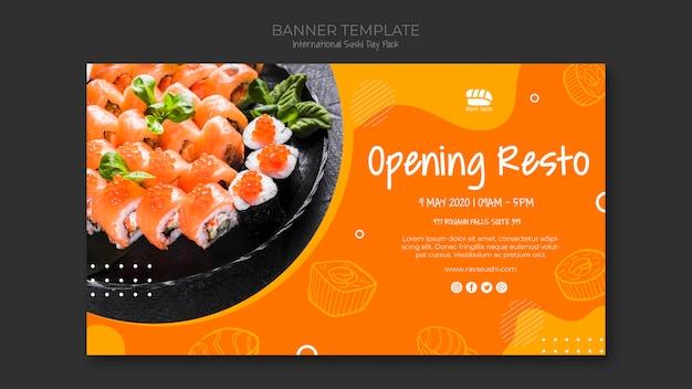 Banner for sushi restaurant Free Psd