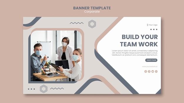 Banner team work template Free Psd