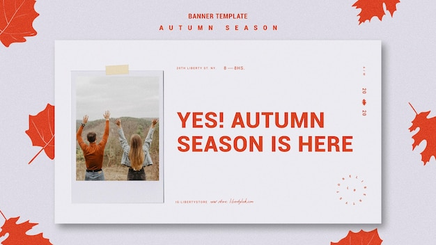 Banner template for autumn new clothing collection Free Psd