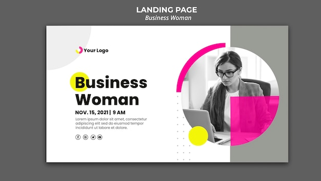 Banner template for businesswoman Free Psd