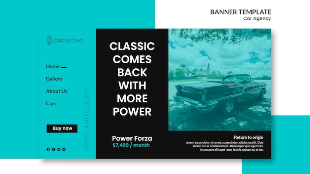 Banner template car agency Free Psd
