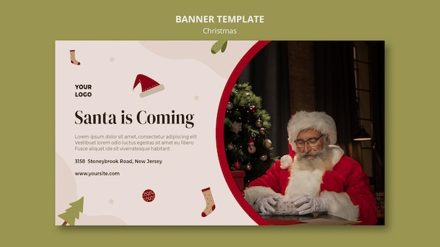 Banner template for christmas shopping sale Premium Psd