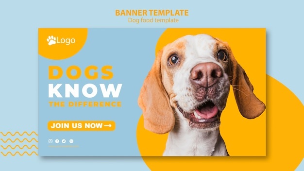 Banner template concept for pet shop Free Psd