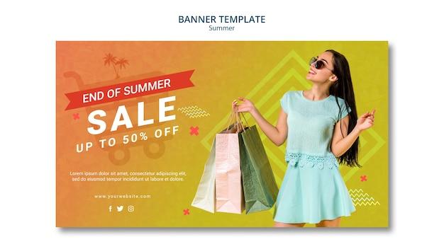 Banner template design summer sale Free Psd
