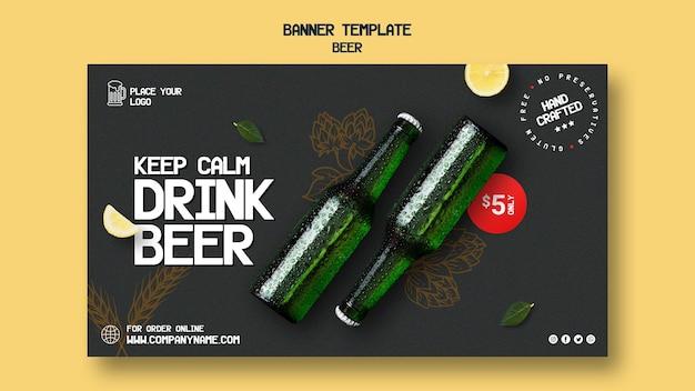 Modello di banner per bere birra Psd Gratuite