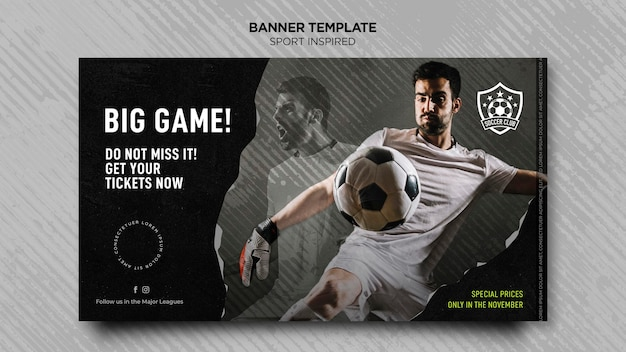 Banner template for football club Free Psd