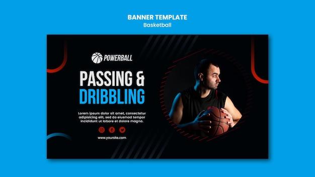 Шаблон баннера для игры в баскетбол Бесплатные Psd