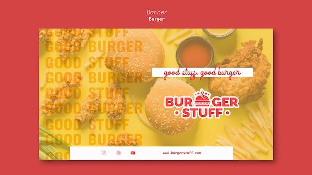 Шаблон баннера для закусочной с гамбургерами Бесплатные Psd