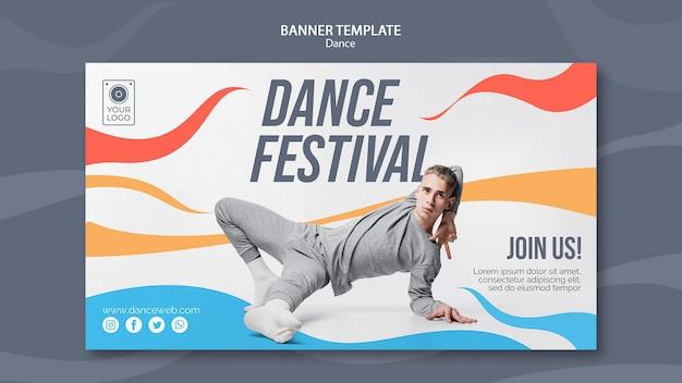 연기자와 댄스 페스티벌 배너 템플릿 무료 PSD 파일