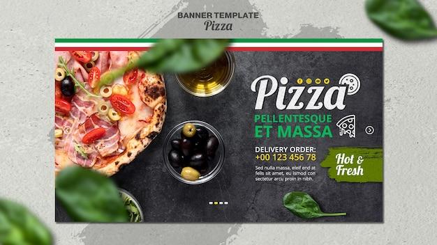 Шаблон баннера для итальянской пиццерии Бесплатные Psd
