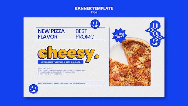 新しい安っぽいピザ味のバナーテンプレート 無料 Psd