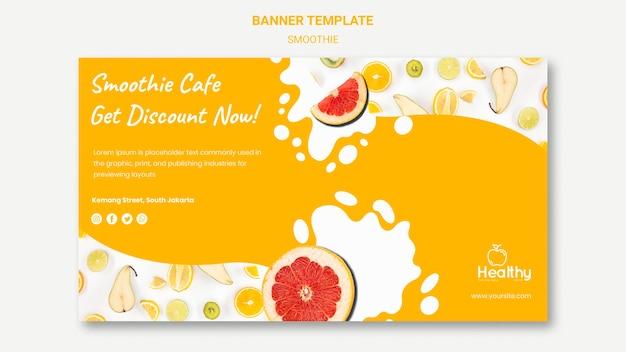 Modello di banner per frullati di frutta sani Psd Gratuite
