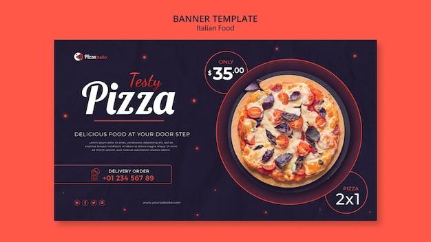 Banner template for italian food restaurant Free Psd