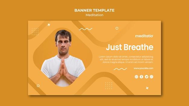 Баннер шаблон медитации концепции Бесплатные Psd