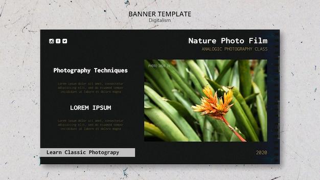 バナーテンプレート自然写真フィルム 無料 Psd