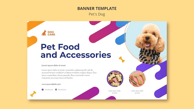Banner template for pet shop business Free Psd
