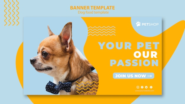Banner template for pet shop Free Psd
