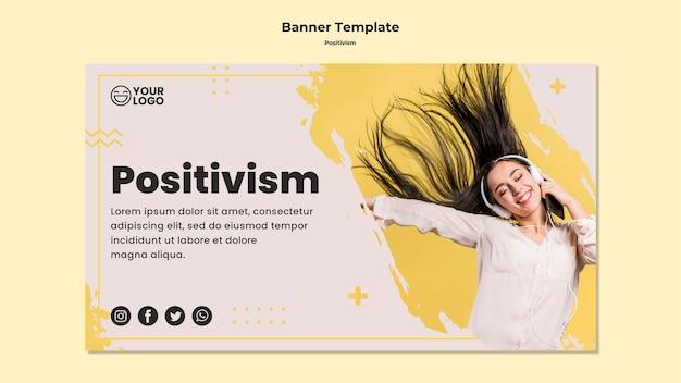 Banner template positivism Free Psd