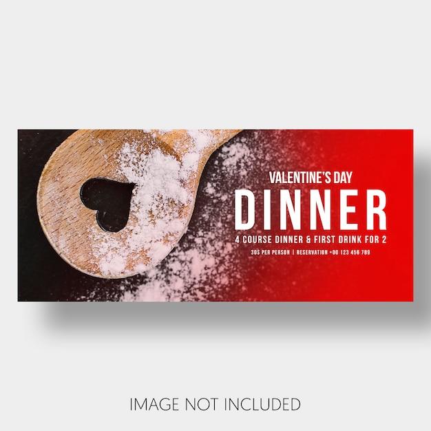 Banner template restaurant valentine's day Free Psd