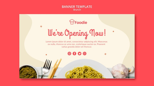 Banner template for restaurant Free Psd