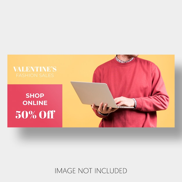 Banner template sales valentine's day Free Psd