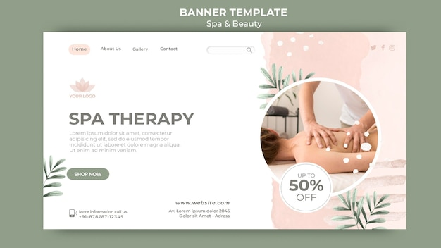Banner template for spa and relaxation Free Psd