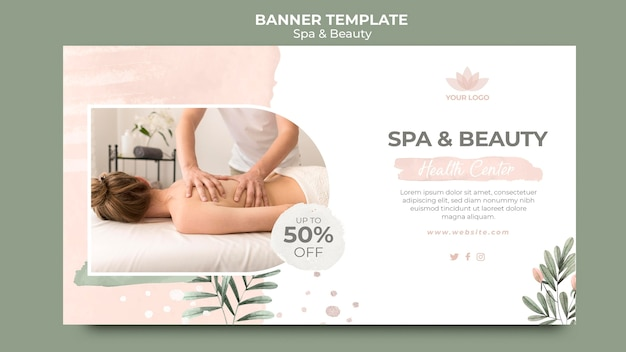 Banner template for spa therapy Free Psd