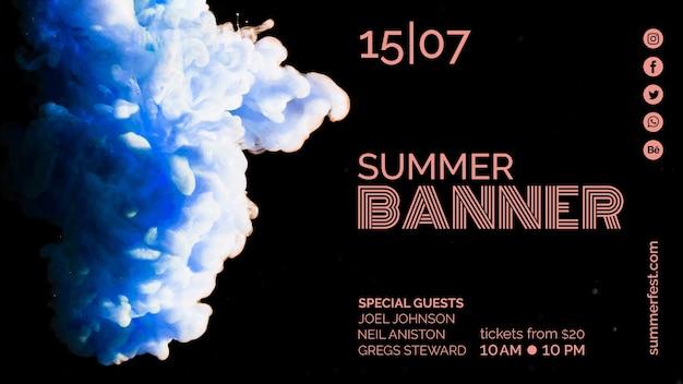 Banner template for summer festival Free Psd