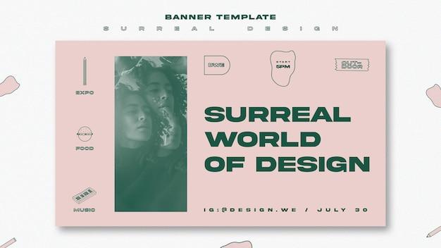 バナーテンプレートシュールなデザイン 無料 Psd