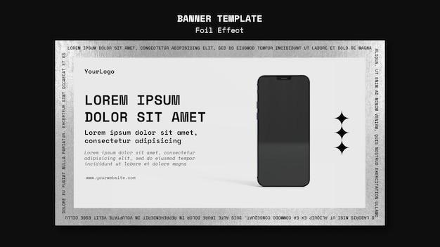 Modello di banner per tecnologia con effetto lamina Psd Gratuite