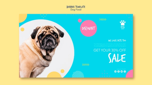Banner template with 30% off sale Free Psd