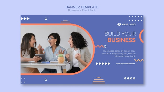 Banner template with business event theme Free Psd