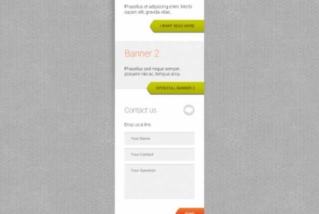 Banner template with contact form Free Psd