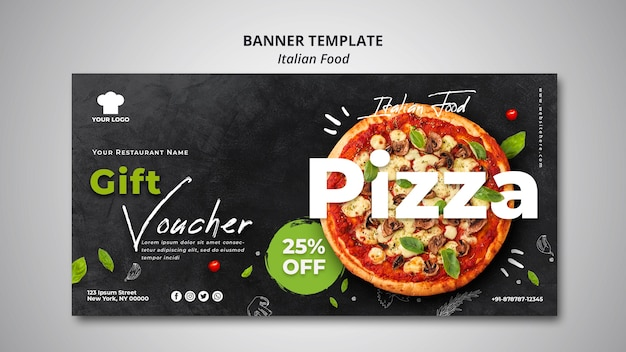 Banner for traditional italian food restaurant Premium Psd