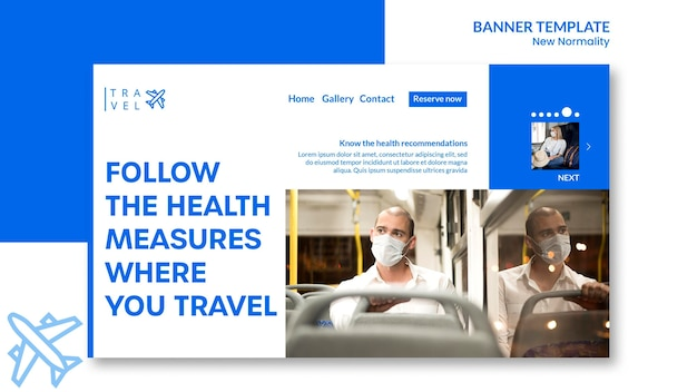 Banner for travel booking Free Psd