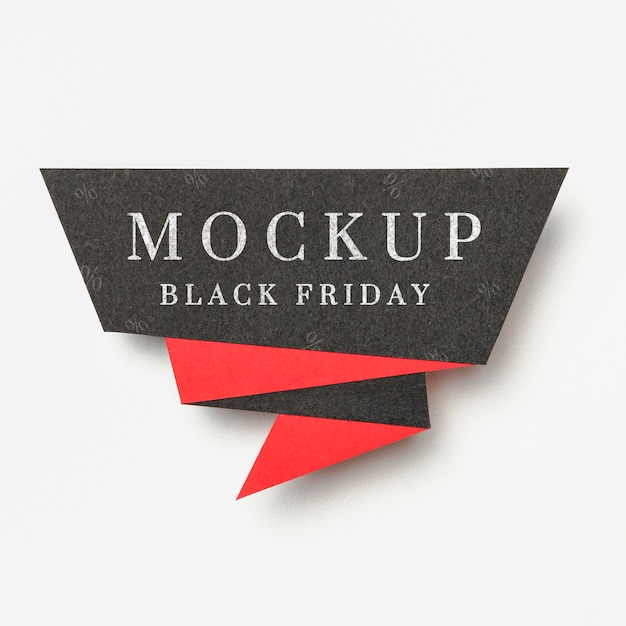 Banner on white background black friday sales mock-up Free Psd