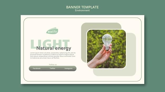 Баннер с концепцией окружающей среды Бесплатные Psd